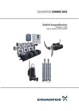 Cenník Grundfos 2012 - Vodné hospodárstvo