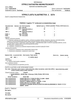 List vlastníctva číslo LV6374