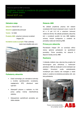 ENO Revízia VF Slovenské elektrárne, a.s., závod Elektrárne
