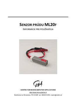 SENZOR PRÚDU ML20F