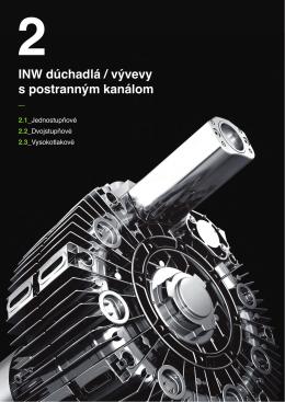 INW dúchadlá / vývevy s postranným kanálom - IN-ECO