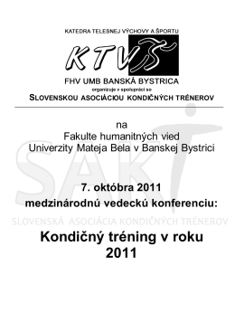 Kondičný tréning v roku 2011
