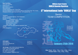 "5th International Judo ""DUKLA"" Cup"