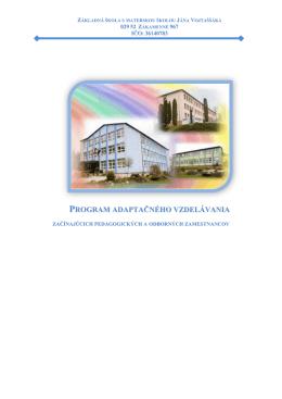 program adaptačného vzdelávania - Základná škola s materskou