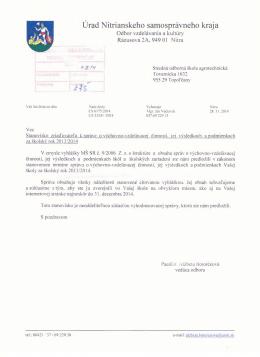 Vyhodnocovacia správa - Stredná odborná škola agrotechnická