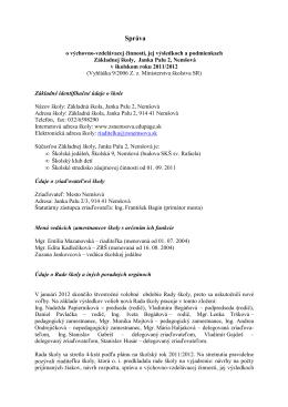 Správa 2011_2012 - Základná škola