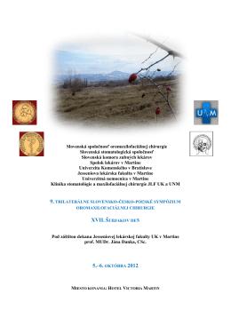 Slovenská spoločnosť oromaxilofaciálnej chirurgie Slovenská