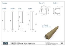 Výkres PBSK100 - Betónové ploty