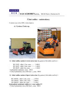 Čelné radlice – malotraktory
