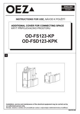 Kryt pripojovacieho priestoru - OD-FS123-KP, OD-FSD123-KPK