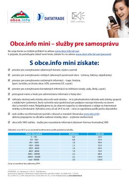 Obce.info mini