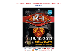 INTERNATIONAL CZECH K-1 CHAMPIONSHIPS 2013 RESULTS