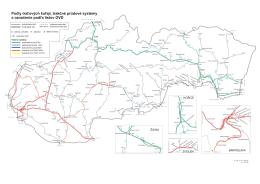 Počty traťových koľají, rozchod a trakčné systémy
