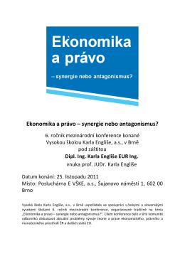 Program konference - Vysoká škola Karla Engliše