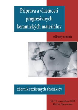 Zborník Príprava a vlastnosti progresívnych keramických materiálov