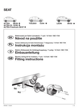 SEAT Einbauanleitung Fitting instructions Instrukcja