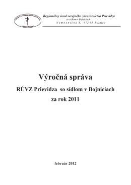 Výročná správa za rok 2011 - Regionálny úrad verejného