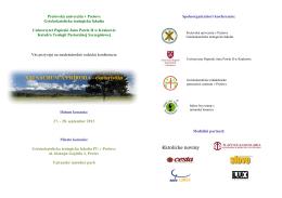 XXI SACRUM A PRÍRODA - ekoturistika