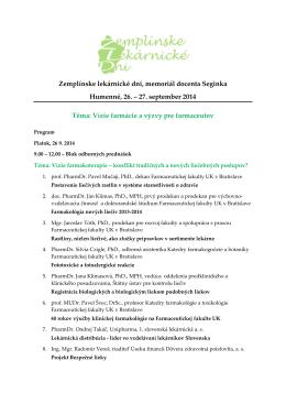 Program - lekarnici.sk
