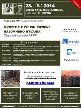 Snímek 1 - Asociácia PPP