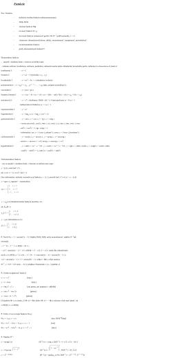 (ne)elementárne funkcie, vlastnosti funkcií
