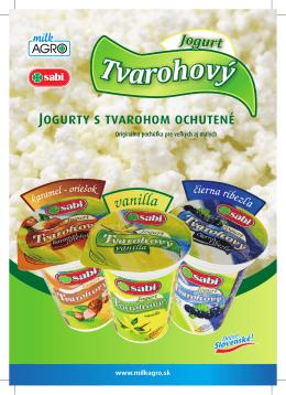 Jogurty s tvarohom ochutené