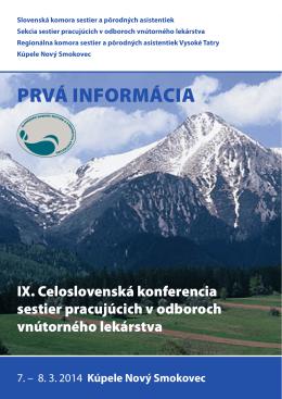 PRVÁ INFORMÁCIA - Regionálna komora sestier a pôrodných