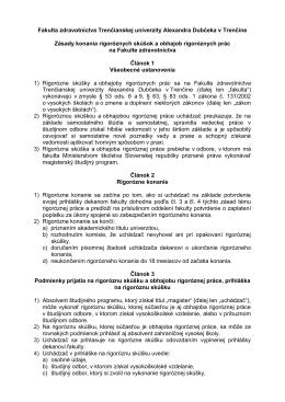Fakulta zdravotníctva Trenčianskej univerzity Alexandra Dubčeka v