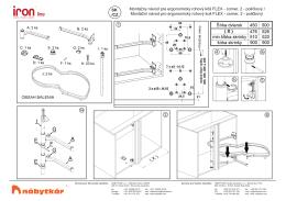 Montážny návod pre ergonomický rohový kôš FLEX