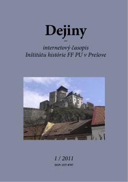 pdf - 12.4 MB - Dejiny - Internetový časopis