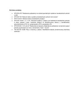 """Súvisiace predpisy • STN EN 476 """"Všeobecné požiadavky na"""