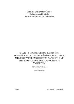 Diplomová práca - KME