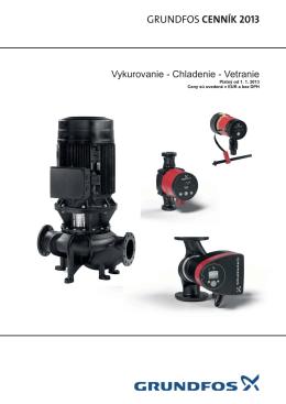 Cenník Grundfos 2013 SK - Vykurovanie - Chladenie