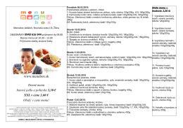 Denné menu hotové jedlo a polievka 3,30 € XXL v
