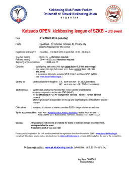 Katsudo OPEN kickboxing league of SZKB – 3rd event