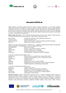 O projekte Zodpovedne.sk