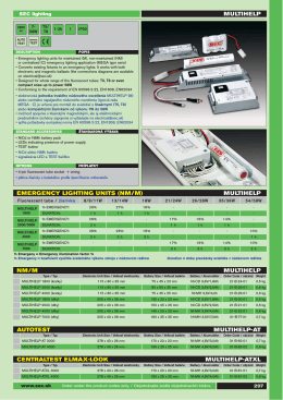 multihelp multihelp emergency lighting units (nm/m)