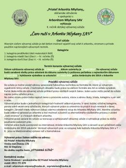PDF, 314kB - Arborétum Mlyňany SAV