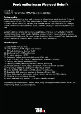 Popis online kurzu Webrebel Rebelík