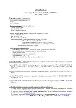 HAVARIJNÝ PLÁN vypracovaný podľa odstavca 1a 2 § 2 Vyhlášky č
