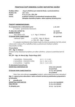 Pokyny k napísaniu práce a kritériá hodnotenia