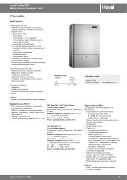TopGas 80 technický katalog