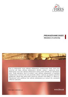 správa o certifikácii zhody stavebného výrobku