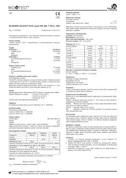 BILIRUBIN CELKOVÝ DCA Liquid 500 (BIL T DCA L 500)