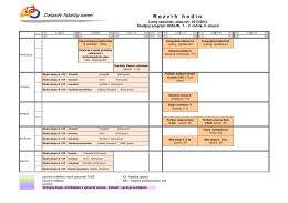 Rozvrh hodín ŠP Dizajn pre LS akad.rok 2013-14