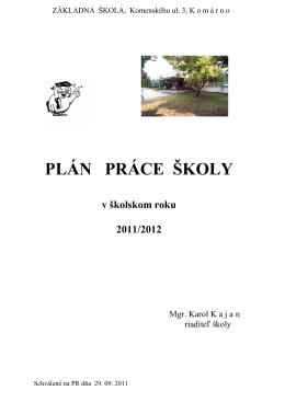plán práce11-12 - ZŠ