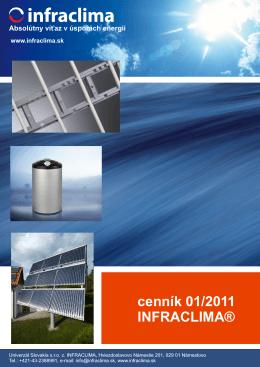 cenník 01/2011 INFRACLIMA®