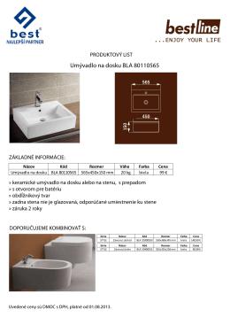 Umývadlo na dosku BLA 80110565