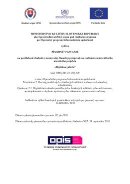 Digitálna galéria - OPIS