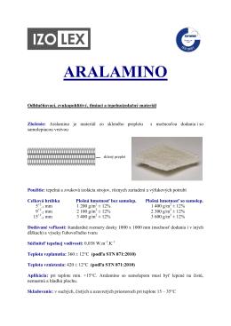 ARALAMINO - IZOLEX Bratislava